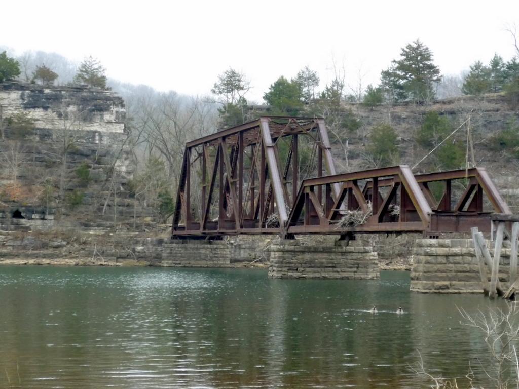 Beaver railroad bridge arkansas march 2010 mark twain national