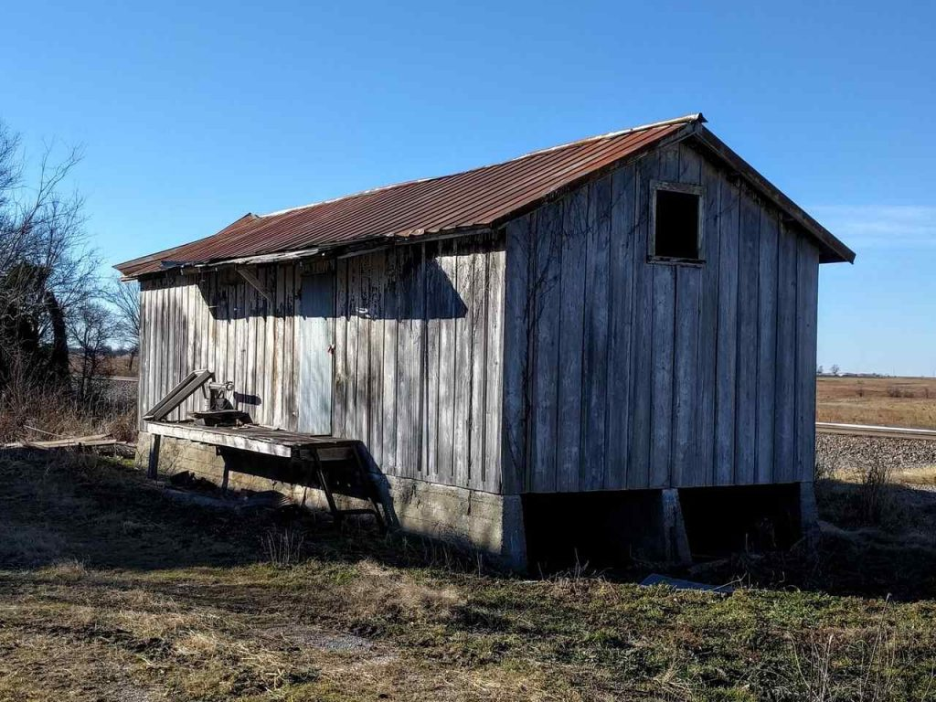 Kansas neosho county stark - The Old Railroad Depot At Stark Ks